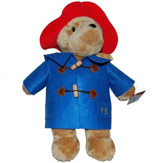 Jucarie din plus Ursuletul Paddington cu haina albastra, 36 cm
