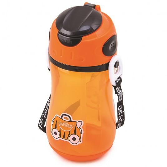Sticla din plastic cu pai Tipu Bottle, Trunki
