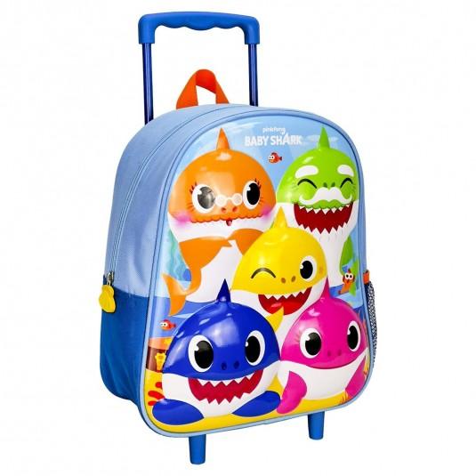 Troler Cerda Baby Shark 3D Premium, 26x31x10 cm