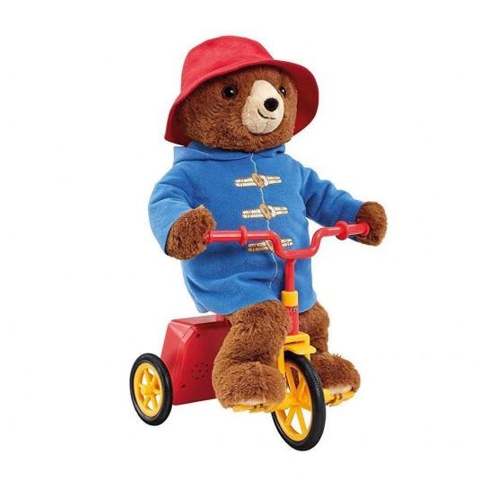 Jucarie din plus Ursuletul Paddington pe bicicleta, 33 cm