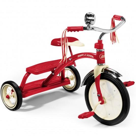 Tricicleta Radio Flyer Classic Red Dual Deck, 2-5 ani